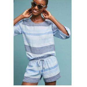 Bella Dahl Blue Linen Shorts